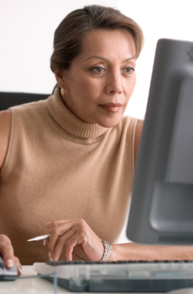Woman researching what to know about braces