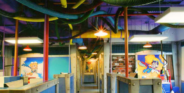 Hallway View of A Fun and High-Quality Family Orthodontics & Dentistry Facility.
